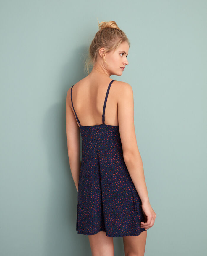 Slip dress Leopard blue  Take away
