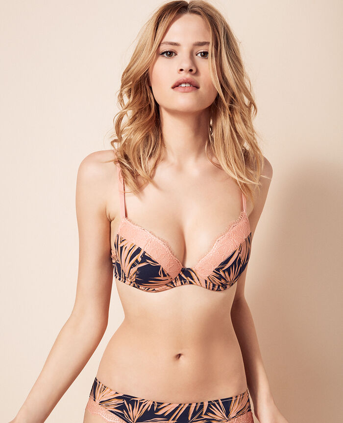Padded push-up bra Toucan pink Jackpot
