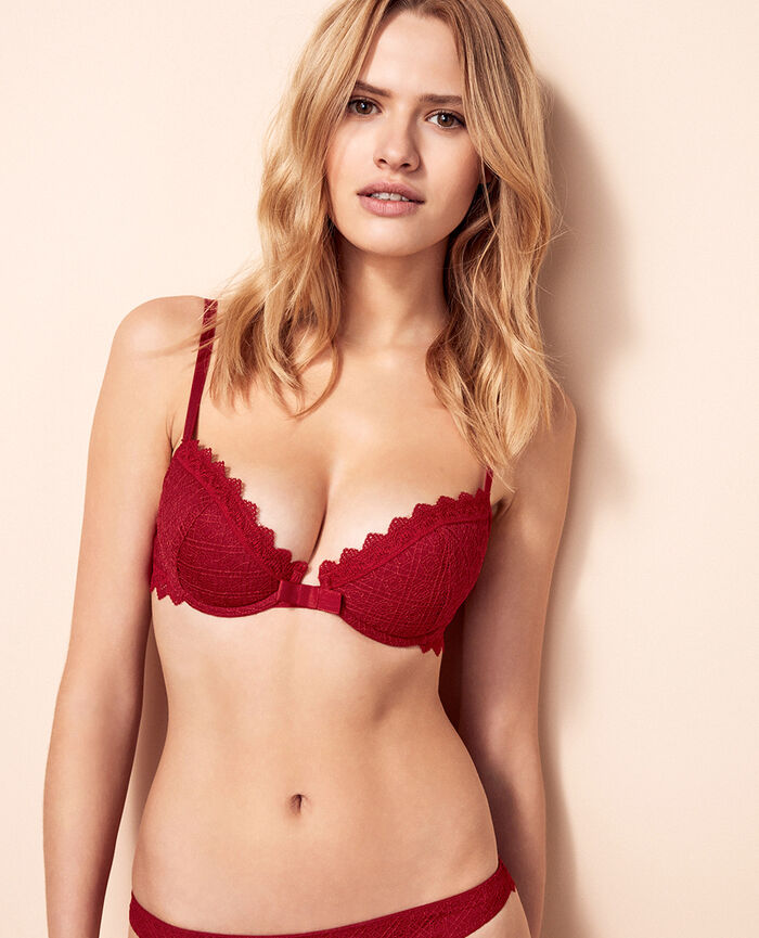 Soutien-gorge push-up mousses Rouge goji Insolente