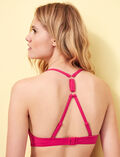Mini-wire triangle bikini top Bling pink Numa