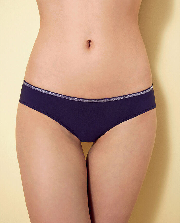 Brasilianischer Bikinislip Jeansblau OHLALA