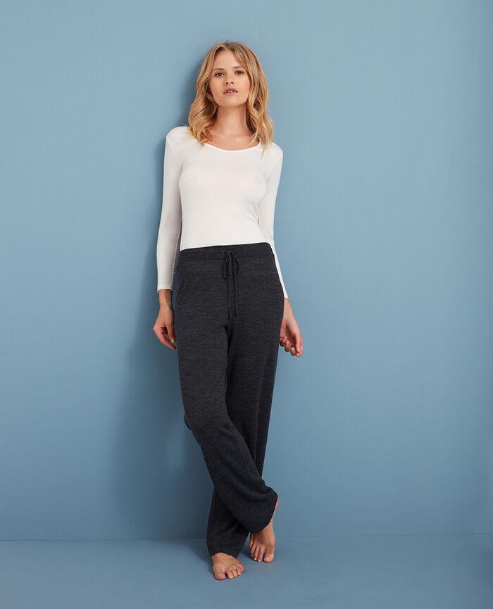 7/8 sleeved top Rose white Innerwear