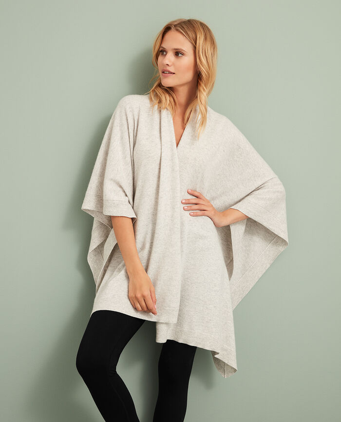 Poncho Light grey Cozy