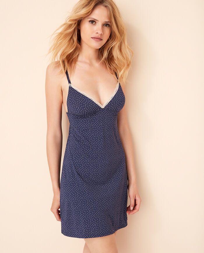 Slip dress Blue spots Take away