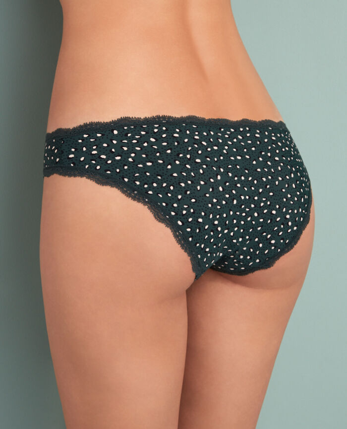 Hipster briefs Leopard green Take away