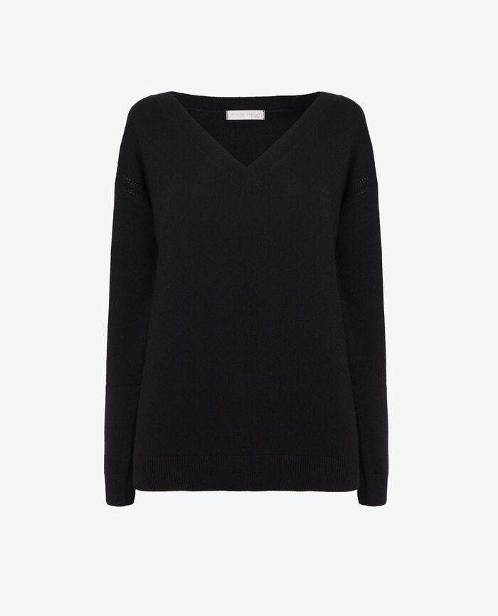 V-neck jumper Black Cozy