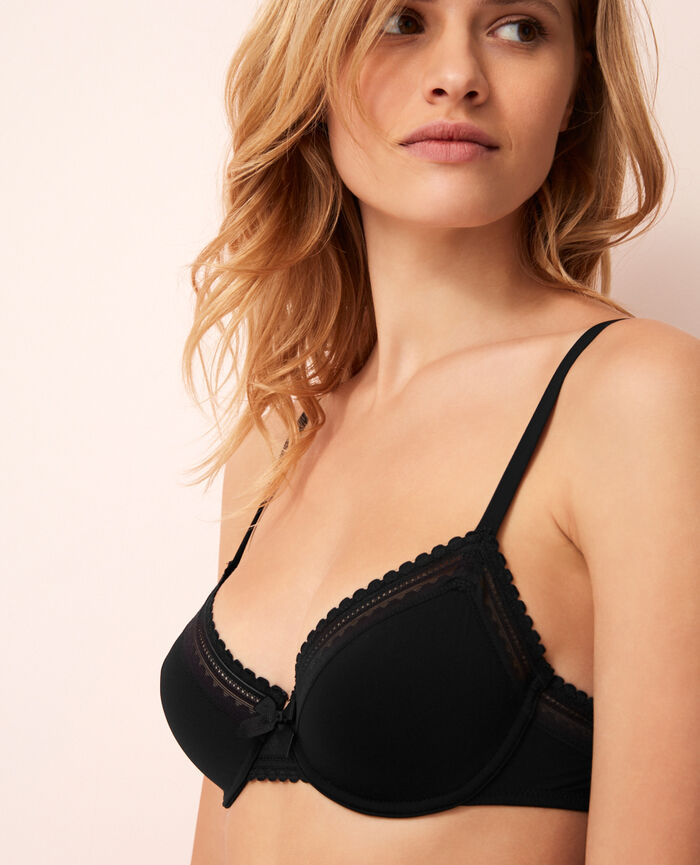 BEAUTE Black Underwired bra
