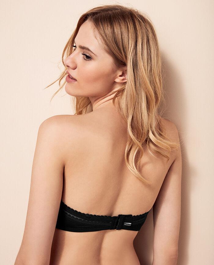 BEAUTE Black Strapless bra