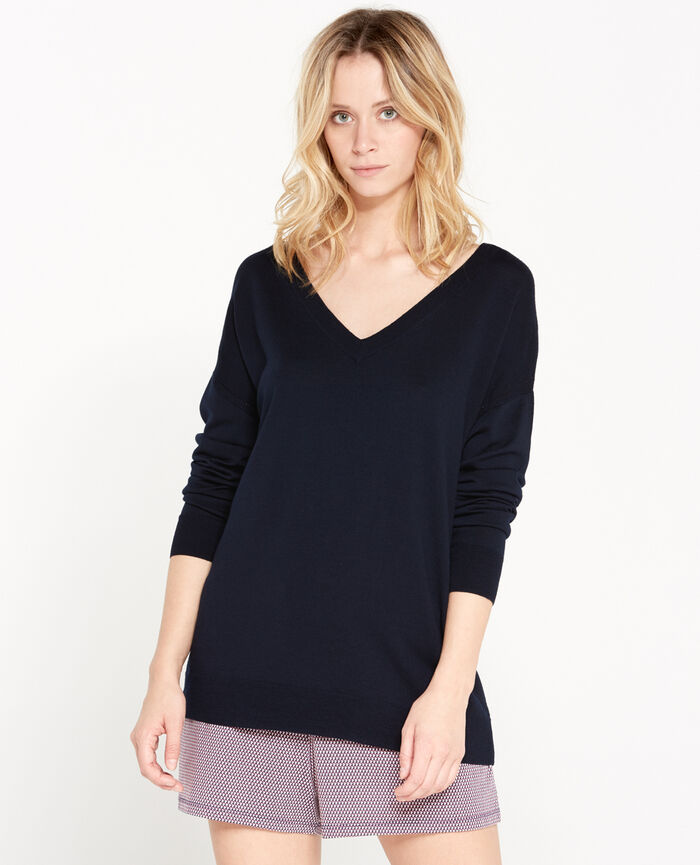 V-neck jumper Abyss blue Extra