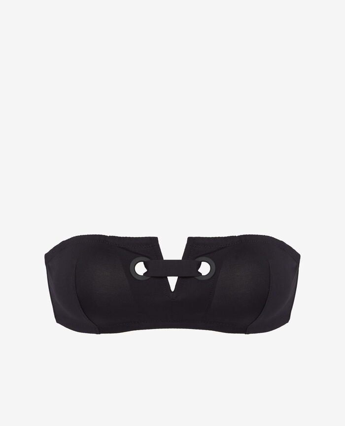 IMPALA Black Strapless bikini top