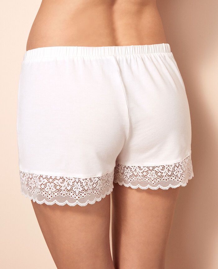 Boxer shorts Rose white Flora