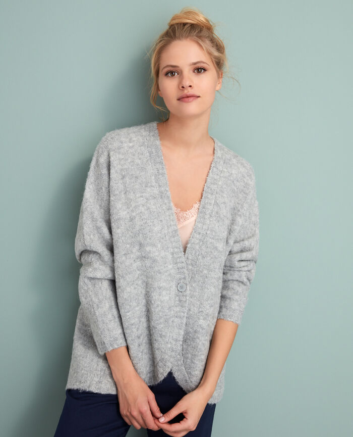 Long-sleeved cardigan Grey Loop