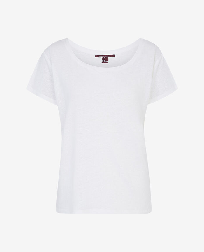 T-shirt with open neck White Ideal