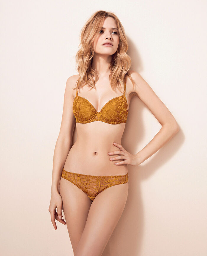 Padded push-up bra Turmeric brown Monkeys