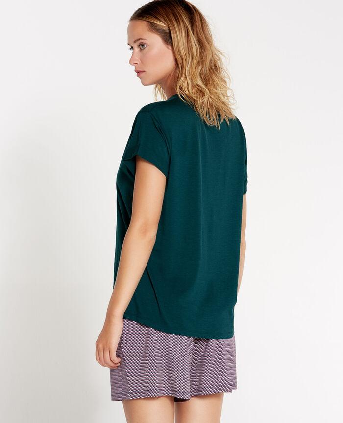 EMY Vert nuit T-shirt manches courtes