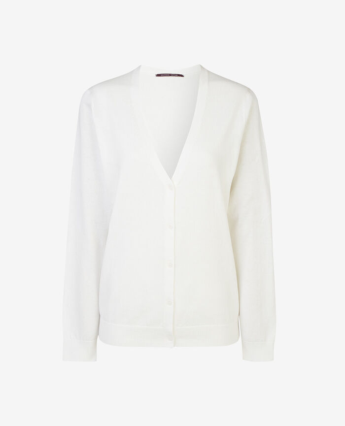 Long-sleeved cardigan White Soleil