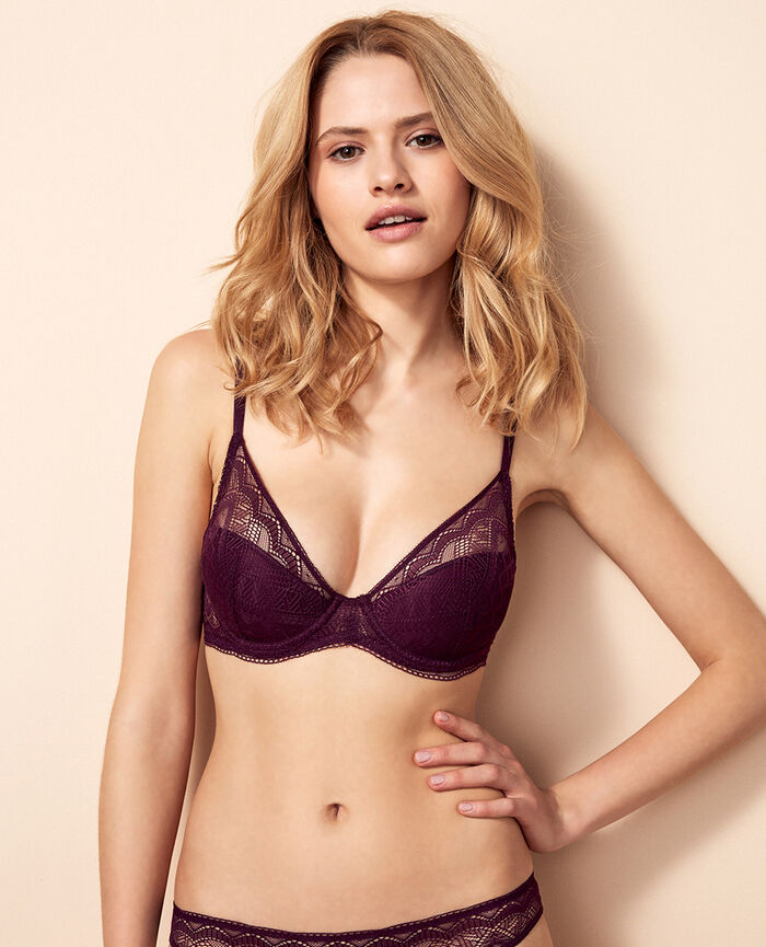 Padded triangle bra Ethnic purple Passion