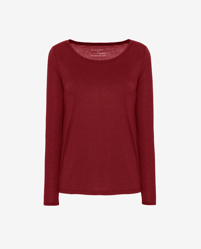 Long-sleeved t-shirt Leather red Latte
