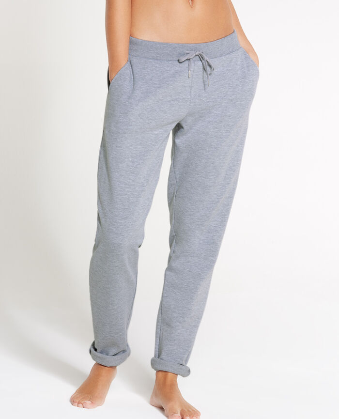 SWEAT COLLECTION Grau meliert Jogginghose