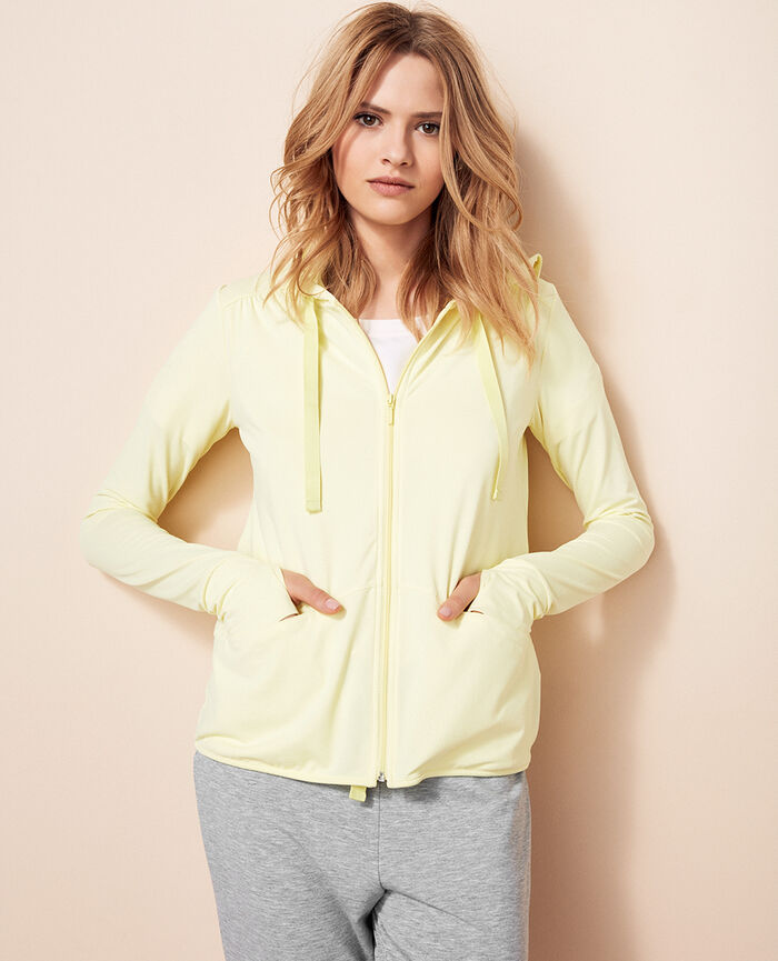 Hoodie Techno yellow Air loungewear