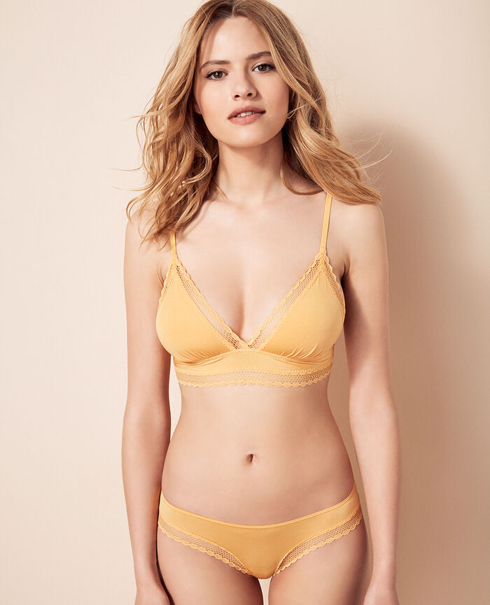 AIR LINGERIE Sunshine yellow Soft cup bra