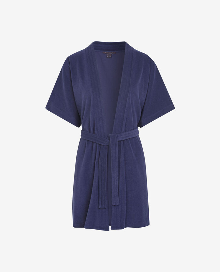 Bathrobe Navy Bronzing
