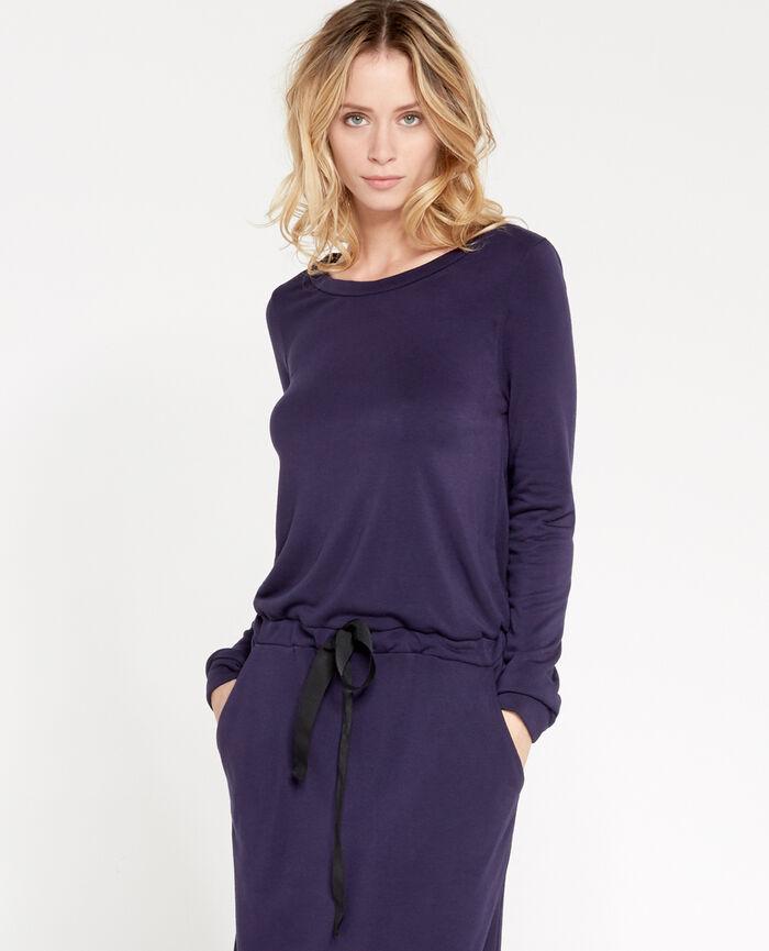 LOUNGEWEAR Marineblau Langes Kleid