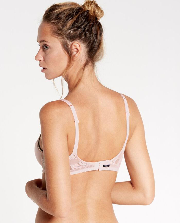 ADDICT Milky pink Demi push-up bra