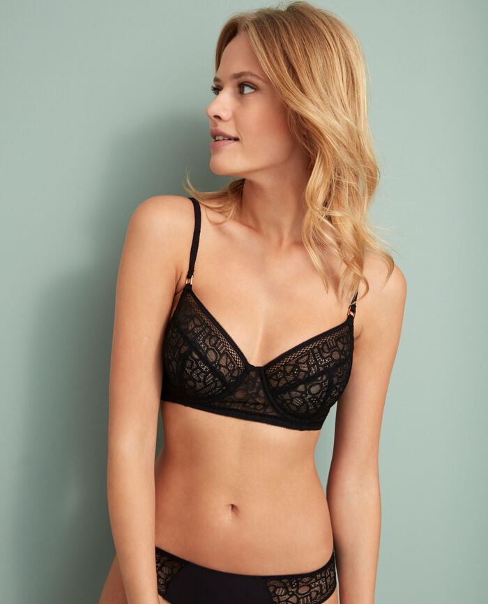 Underwired bra Black Manhattan