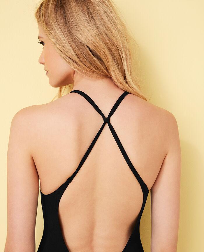 One-piece swimsuit with cups Black Body swim