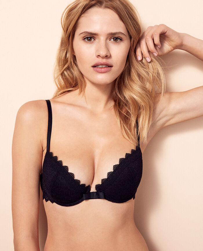 Padded push-up bra Black Insolente