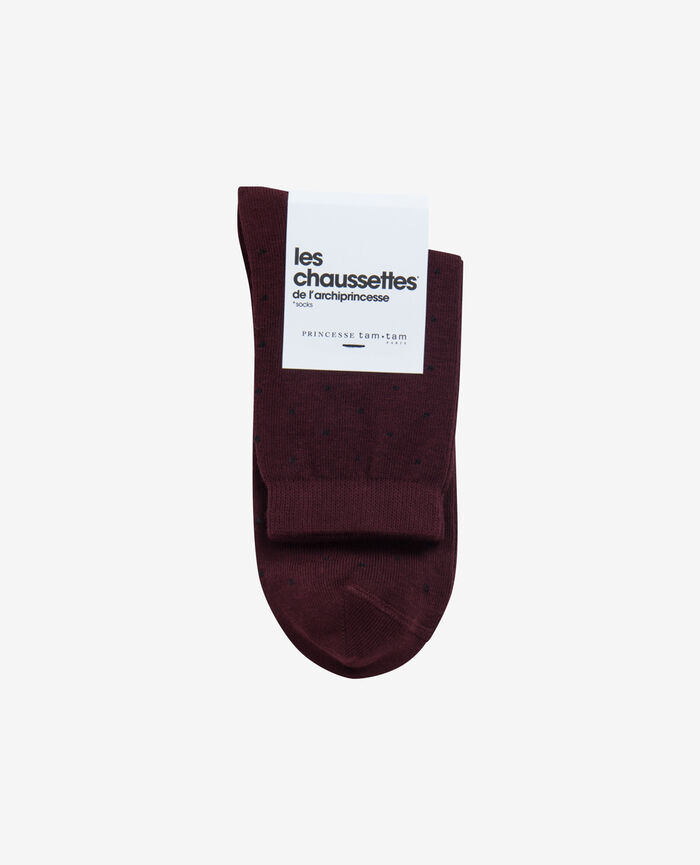 Socks Royal chocolate Plumetis