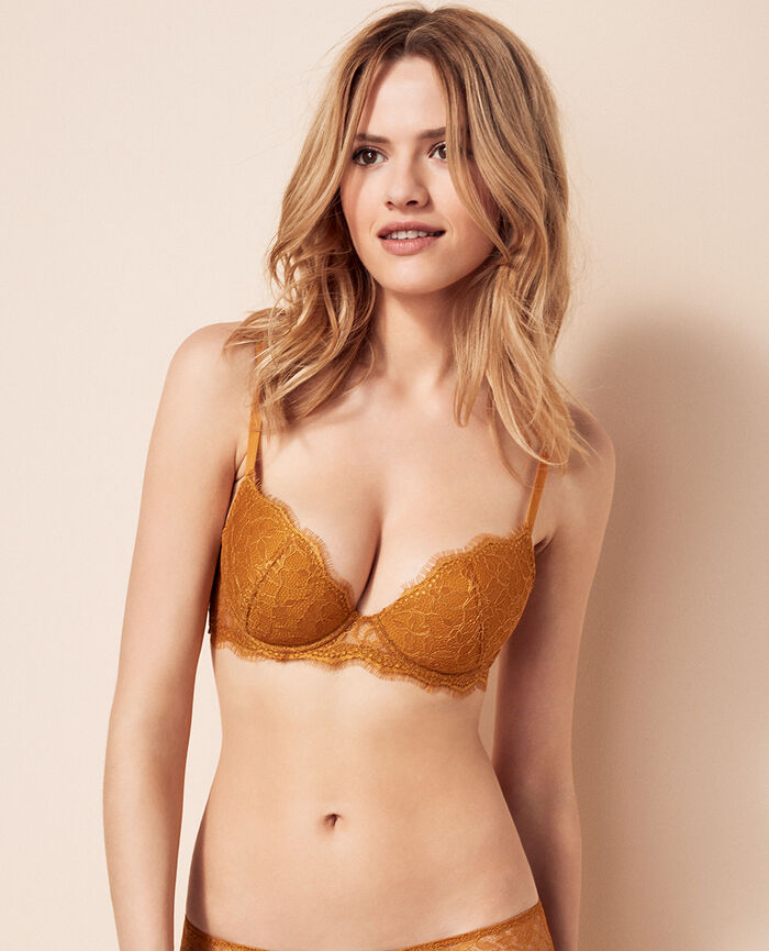 Padded push-up bra Turmeric brown Taylor
