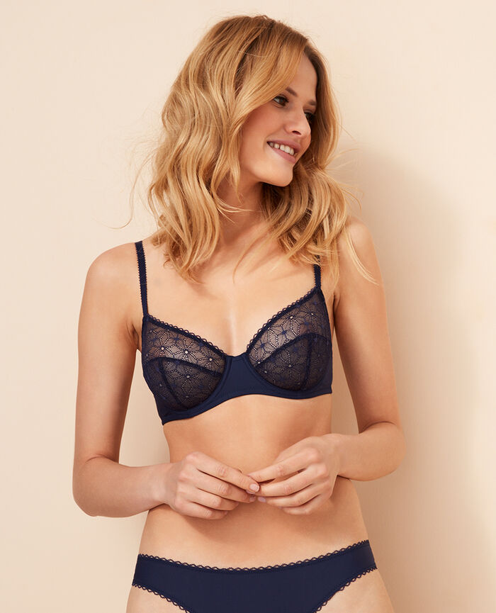 Underwired bra Denim blue Voodoo