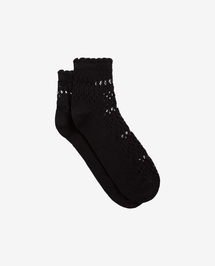 Socks Black Kawai