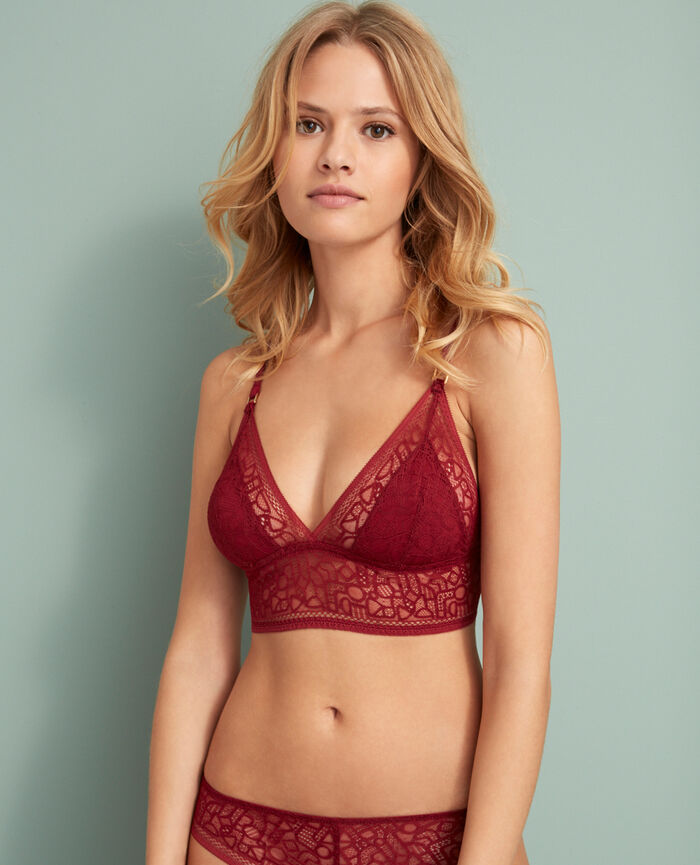 Soft cup bra Leather red Manhattan