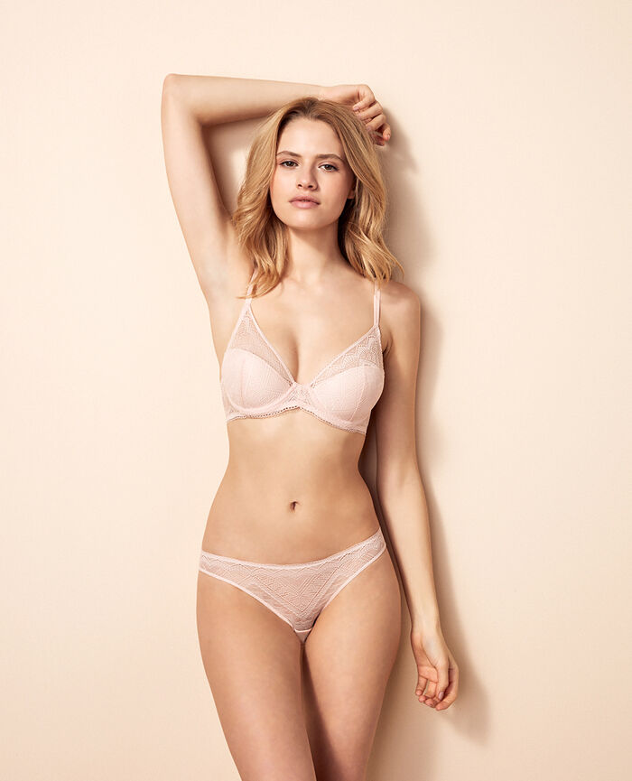 Padded triangle bra Lychee pink Passion