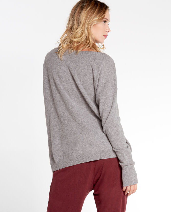 Boatneck jumper Light grey Cozy