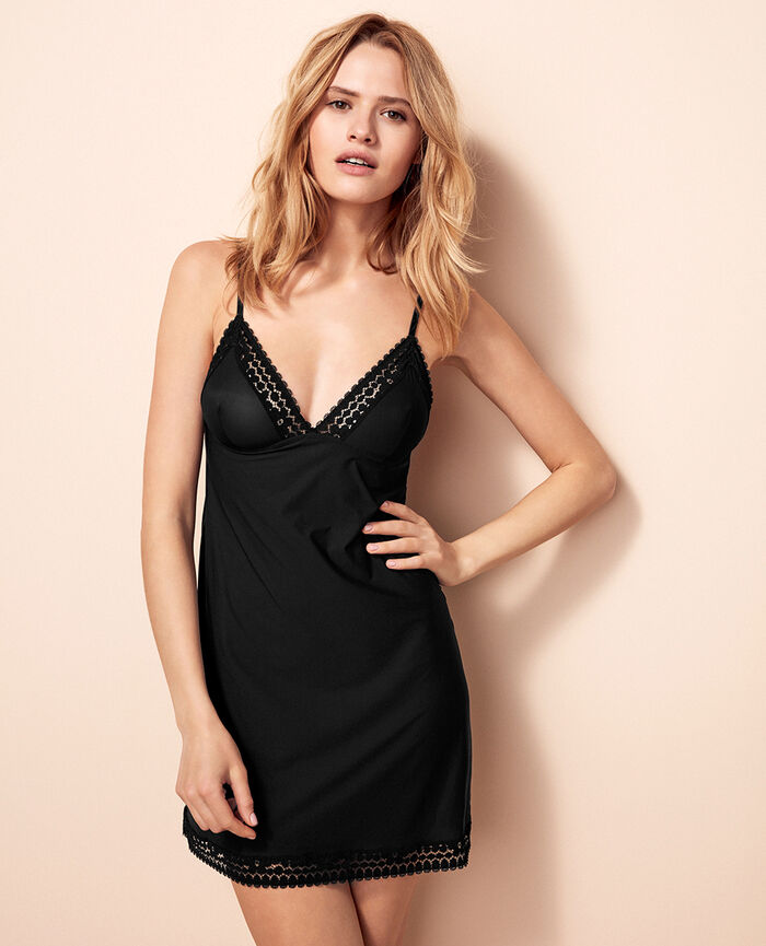 Slip dress Black Monica