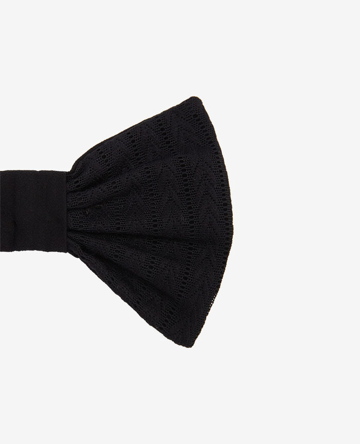 Bra clasp bow Black Rayures