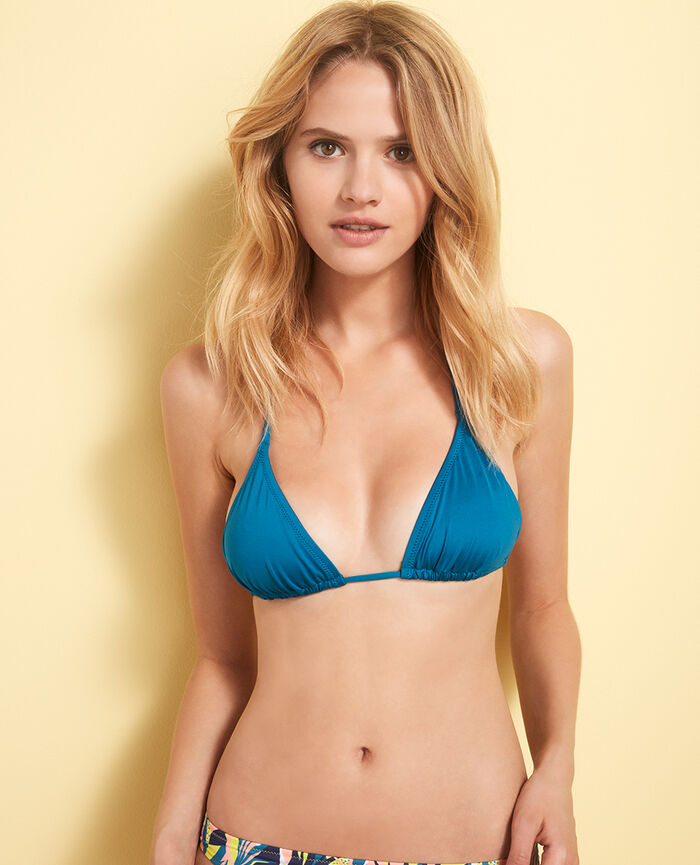Padded triangle bikini top Aiolos blue Mix & match