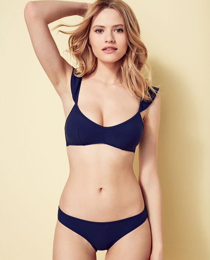 Padded triangle bikini top Denim blue Soa