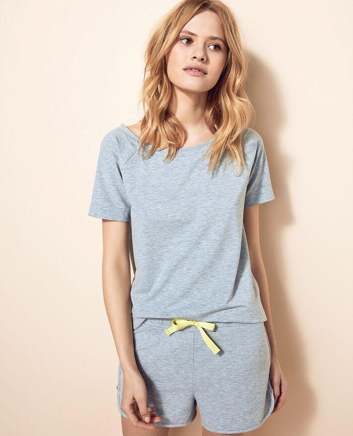 T-shirt manches courtes Gris chiné Air loungewear