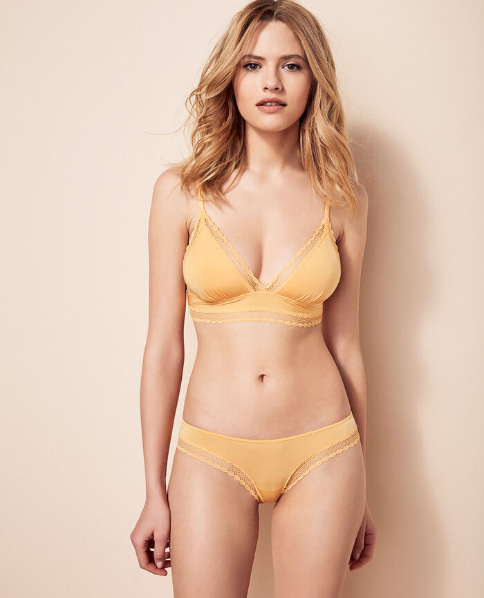 Culotte taille basse Jaune soleil Air lingerie