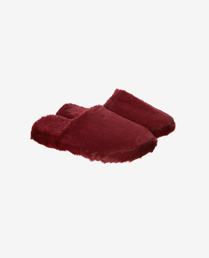 Slippers Leather red Oscar