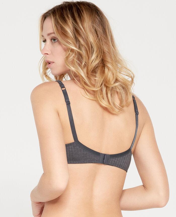 INFINITY Flecked grey Soft push-up bra