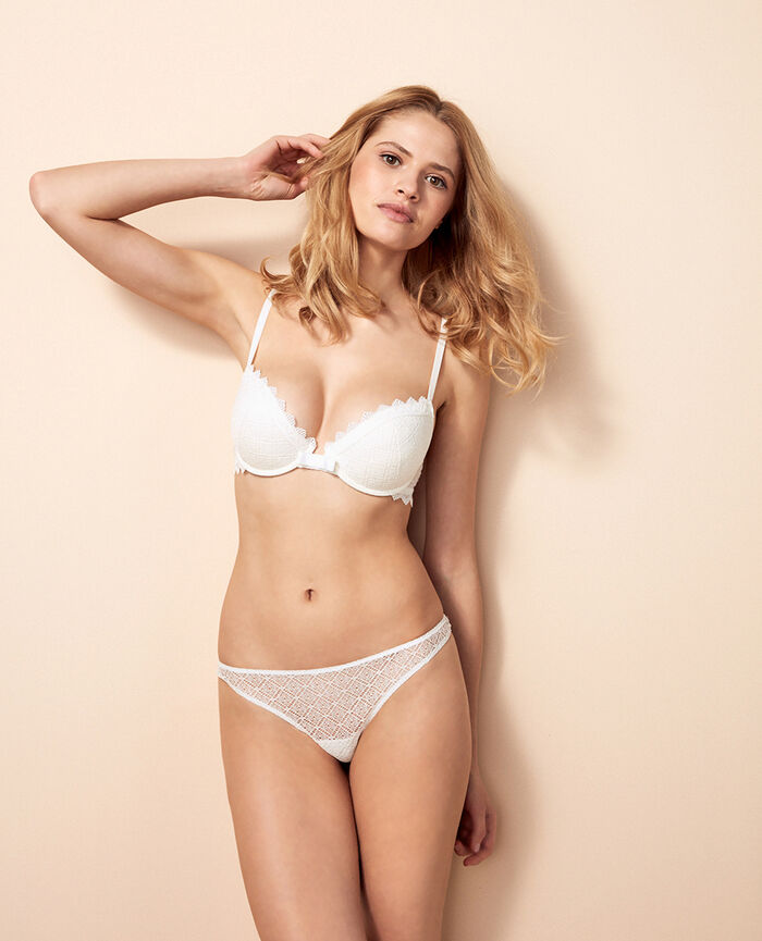Padded push-up bra Ivory Insolente