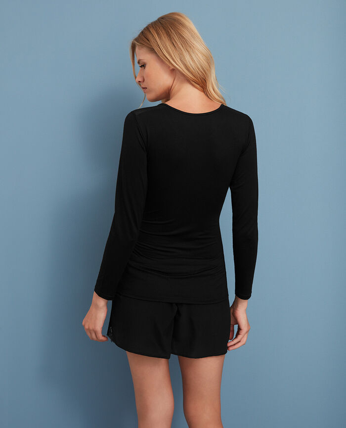 INNERWEAR Noir T-shirt manches longues
