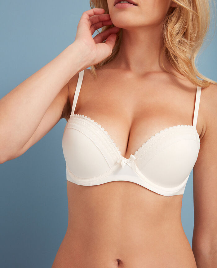 BEAUTE Rose white Progressive-cup push-up bra