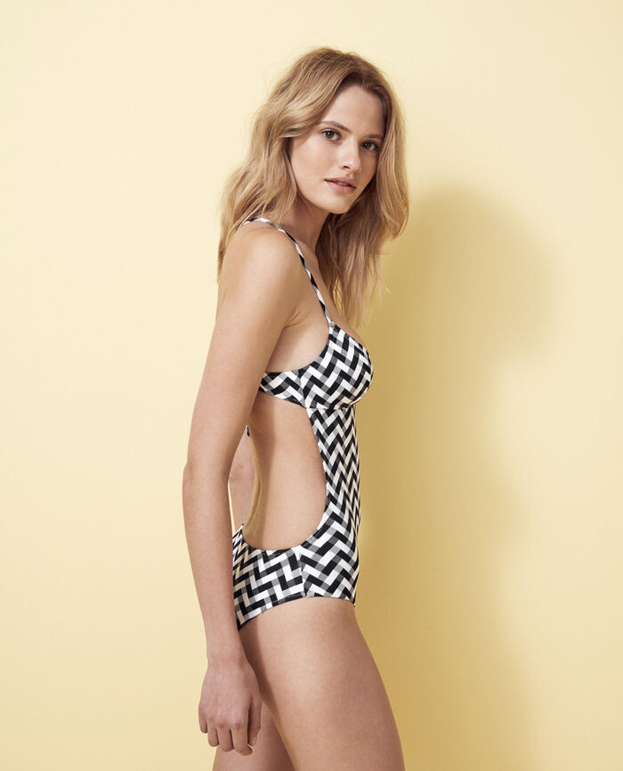 Swimsuit Black Zebra